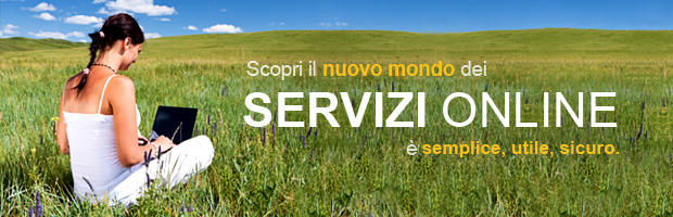 Intestazione pagina servizi on line